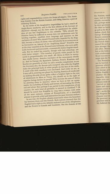 Carl Van Doren, Benjamin Franklin, p. 218